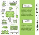 garage sale  household used... | Shutterstock .eps vector #519379963