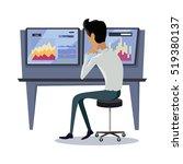 modern online trading on stock... | Shutterstock .eps vector #519380137