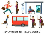 woman with briefcase waiting... | Shutterstock .eps vector #519380557