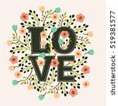 vector decorative card with... | Shutterstock .eps vector #519381577