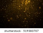 abstract gold bokeh with black... | Shutterstock . vector #519383707