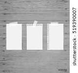 blank white note papers  ready... | Shutterstock .eps vector #519390007