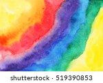 rainbow watercolor abstract...   Shutterstock . vector #519390853