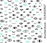 seamless pattern of hand drawn... | Shutterstock .eps vector #519393907