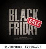 black friday sale banner | Shutterstock .eps vector #519401377