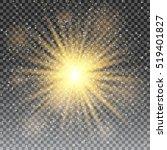 vector transparent sunlight... | Shutterstock . vector #519401827