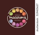 vector logo macaron for shop ... | Shutterstock .eps vector #519405637