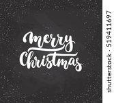 merry christmas   lettering...   Shutterstock .eps vector #519411697
