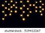 garlands  christmas decorations ... | Shutterstock .eps vector #519412267