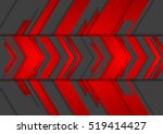 red and black abstract tech... | Shutterstock .eps vector #519414427