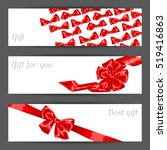 banners with red satin gift... | Shutterstock .eps vector #519416863
