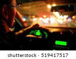 driver in the car at night | Shutterstock . vector #519417517