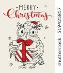 vector holiday christmas... | Shutterstock .eps vector #519425857