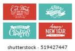 merry christmas   happy new... | Shutterstock .eps vector #519427447