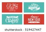 christmas logotype. christmas... | Shutterstock .eps vector #519427447