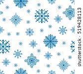 christmas seamless pattern.... | Shutterstock .eps vector #519428113