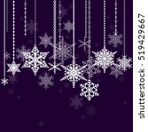 snowflakes. winter holidays... | Shutterstock .eps vector #519429667