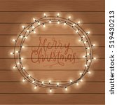 merry christmas greeting card   Shutterstock . vector #519430213