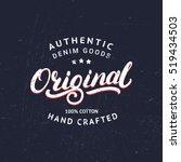 original hand written lettering ... | Shutterstock .eps vector #519434503