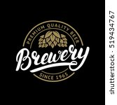 brewery hand written lettering... | Shutterstock .eps vector #519434767