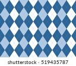 blue white argyle seamless...   Shutterstock .eps vector #519435787