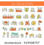 sale set with working little... | Shutterstock .eps vector #519438757