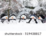 Five Cute Little Snowman In A...