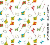 kite seamless pattern... | Shutterstock .eps vector #519438943
