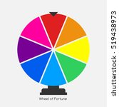 wheel of fortune  lucky icon.... | Shutterstock .eps vector #519438973
