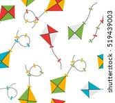 kite seamless pattern...   Shutterstock .eps vector #519439003