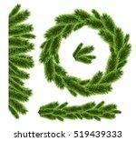 christmas tree realistic... | Shutterstock .eps vector #519439333