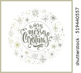 christmas background with... | Shutterstock .eps vector #519440557