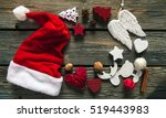 Christmas Decorations Set. Hat...