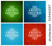 christmas greeting cards... | Shutterstock .eps vector #519444397