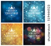 christmas greeting cards... | Shutterstock .eps vector #519444523