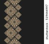 golden frame in oriental style. ... | Shutterstock .eps vector #519444997