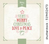 christmas overlay in gold and... | Shutterstock .eps vector #519452473
