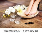 woman's french manicure and... | Shutterstock . vector #519452713