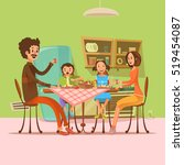 family having meal in the... | Shutterstock . vector #519454087