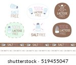 vector salt free sign set | Shutterstock .eps vector #519455047