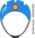 graphic image of climbing helmet   Shutterstock .eps vector #519457963