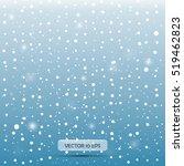 falling snow. vector... | Shutterstock .eps vector #519462823