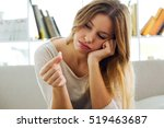 portrait of depressed young... | Shutterstock . vector #519463687