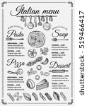 italian menu placemat food... | Shutterstock .eps vector #519466417