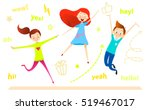 cartoon children character.... | Shutterstock .eps vector #519467017