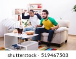 image of friends men watching... | Shutterstock . vector #519467503