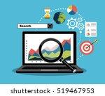 flat illustration web analytics ... | Shutterstock .eps vector #519467953