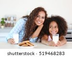 african american mother and... | Shutterstock . vector #519468283