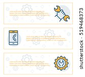 simple banners set of... | Shutterstock .eps vector #519468373