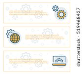 simple banners set of... | Shutterstock .eps vector #519468427